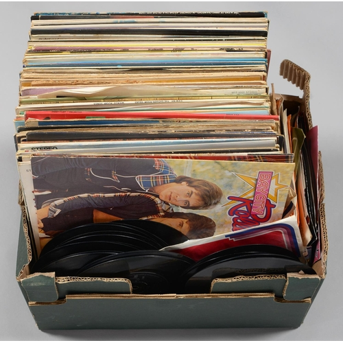 567 - VINTAGE VYNIL RECORDS. MISCELLANEOUS LPS AND SINGLES, 1960S/70S...