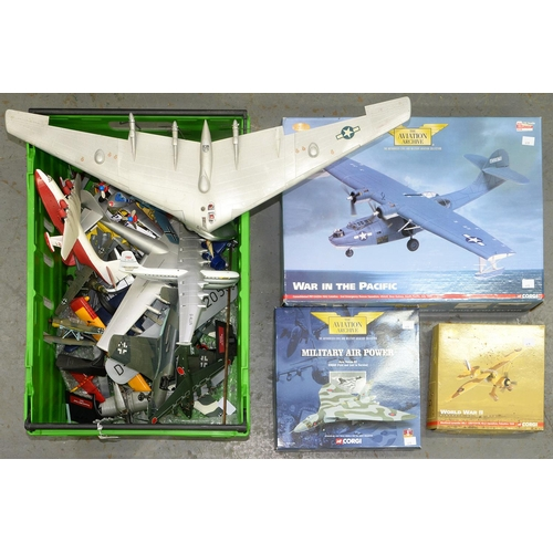 627 - MODEL AIRCRAFT, INCLUDING CORGI AVIATION ARCHIVE MILITARY AIRCRAFT (BOXED) AND OTHERS SIMILAR...