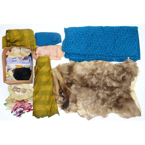 628 - MISCELLANEOUS FURS, FABRICS AND WOOLS, ETC...