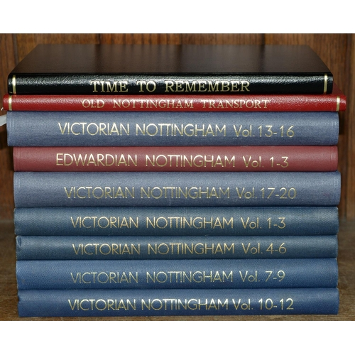 638 - ILIFER AND W BAGULEY - VICTORIAN NOTTINGHAM [AND] EDWARDIAN NOTTINGHAM, ILLUS, REBOUND LIBRARY CLOTH...