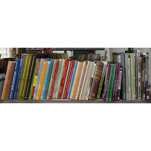 649 - BRITISH RAILWAYS. FIVE SHELVES OF BOOKS, SUBJECTS INCLUDING COMPANY HISTORIES, LOCOMOTIVE BUILDERS, ...