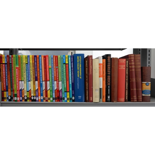 651 - BRITISH RAILWAYS. SEVEN SHELVES OF BOOKS, INCLUDING RAILWAY HISTORIES, STEAM LOCOMOTIVES AND BUILDER...
