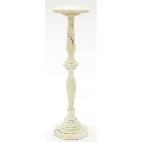 855 - A MARBLE TORCHERE, 20TH C, 91CM H...
