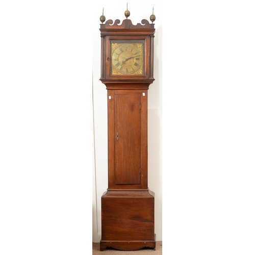 943 - A THIRTY HOUR LONGCASE CLOCK, THE BRASS DIAL INSCRIBED DAN RAY SUDBURY, C1770, IN A MAHOGANY AND FRU...