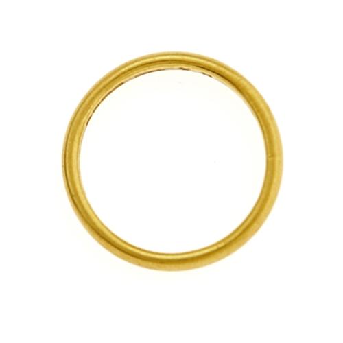 43 - A 22CT GOLD WEDDING RING, BIRMINGHAM 1933, 4.2G, SIZE M½...