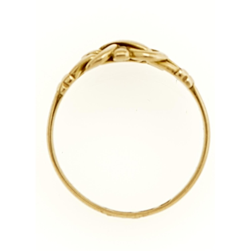45 - A VICTORIAN 18CT GOLD KNOT RING, BIRMINGHAM 1896, 3G, SIZE M½...