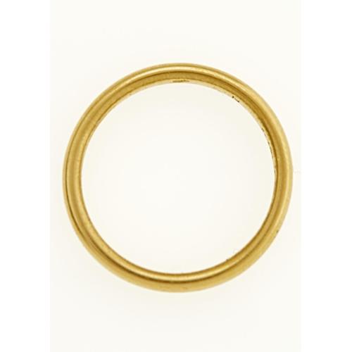 49 - A 22CT GOLD WEDDING RING, BIRMINGHAM 1928, 4.2G, SIZE M...