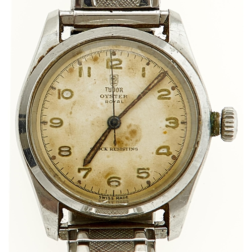 53 - A ROLEX TUDOR STAINLESS STEEL GENTLEMAN'S WRISTWATCH, OYSTER ROYAL, 33MM DIAM, MARKED ON CASE BACK 7...