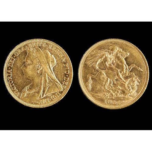 56 - GOLD COIN. SOVEREIGN 1895S...