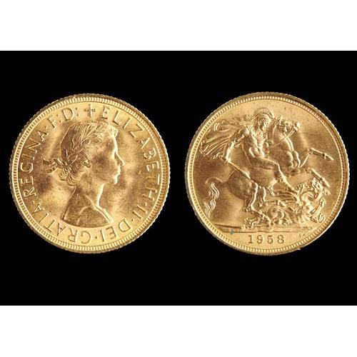 59 - GOLD COIN. SOVEREIGN 1958...