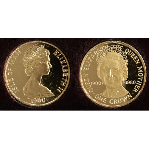 60 - GOLD COIN. ISLE OF MAN CROWN 1980...