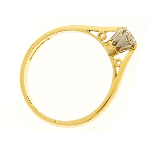 17 - <strong>A diamond solitaire ring,</strong> the old cut diamond of approximately 0.10ct, in 18ct gold...