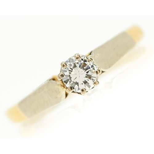 26 - <strong>A diamond solitaire ring,</strong> the round brilliant cut diamond of approximately 0.20ct, ...