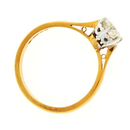 3 - <strong>A diamond solitaire ring,</strong> the round brilliant cut diamond weighing approximately 0....
