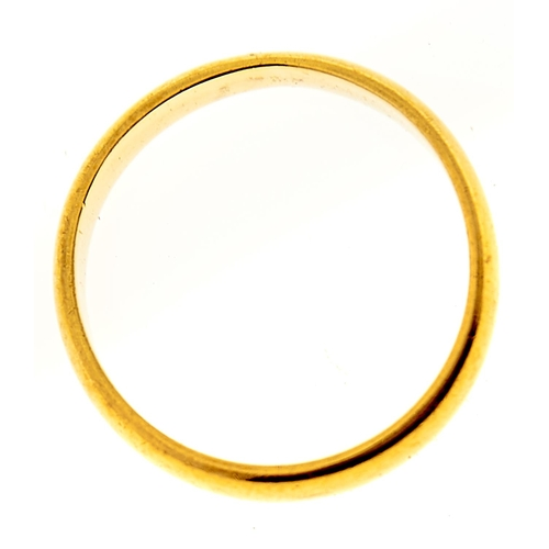 4 - <strong>A 22ct gold wedding ring,</strong> Birmingham 1957, 3.4g, size M...