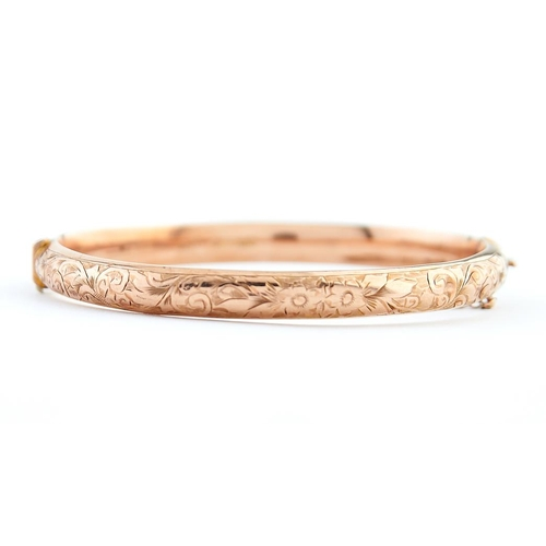 42 - <strong>A 9ct gold bangle,</strong> 65mm, maker A C Co incuse, Birmingham 1923, 7.1g...
