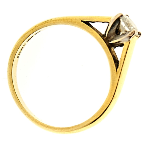 5 - <strong>A diamond solitaire ring,</strong> the round brilliant cut diamond weighing approximately 0....