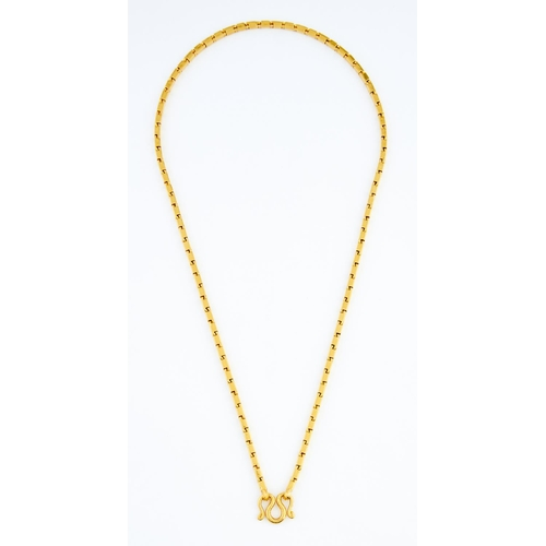 56 - <strong>A South East Asian gold necklace,</strong> 59cm l, marked 100, 75.7g...