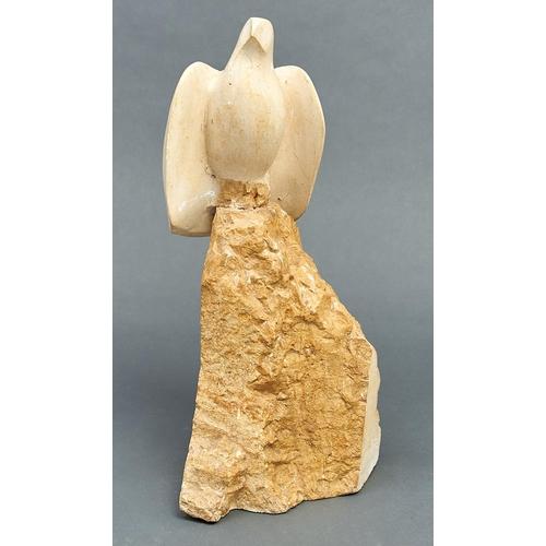1187 - Modern British School - Bird,Hopton Wood stone sculpture, 52cm h