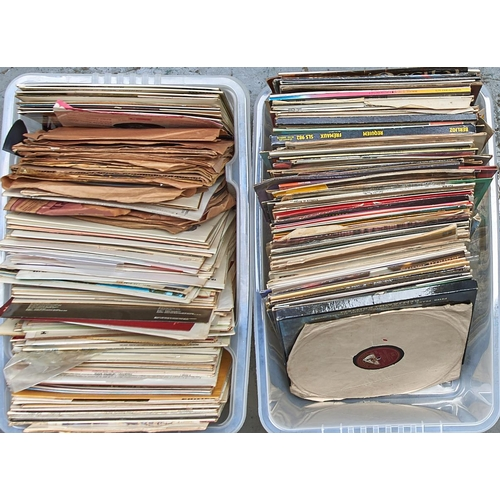1203 - Vintage vinyl records. A collection of LPs, 1960s/70s,two boxes