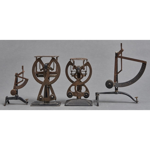 1064 - A set of postal scales, with pierced shaped rectangular plate, the split register from half an ounc...