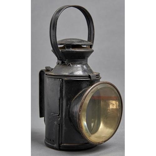 1072 - Railwayana. A Rippingilles, Birmingham, LMS tinplate railway lantern, No. l70949, c1944, tricolour ...