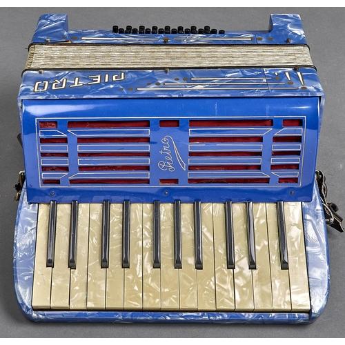 1129 - A Pietro cased piano accordion, c1960's, 36cm w