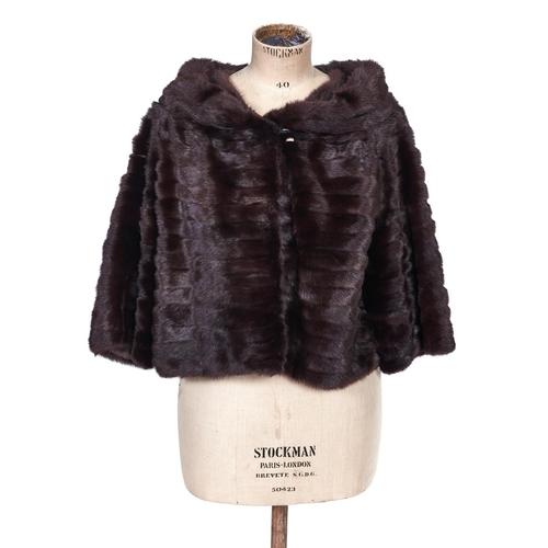 1139 - Fur. A mink cocktail jacket, by Jenners of Edinburgh and a mink stole (2)