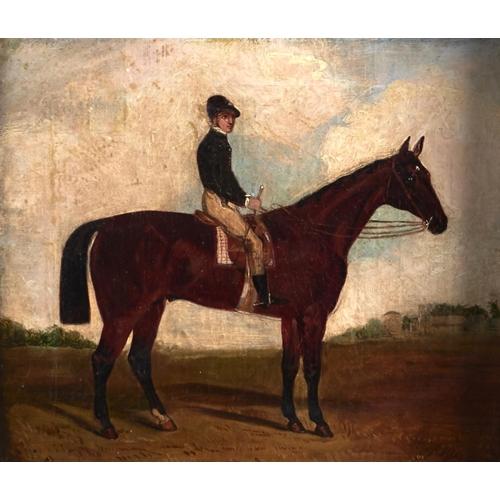 1249 - Follower of Henry Thomas Alken - Racehorse with Jockey up, bears signature, oil on canvas, 29.5 x 34...