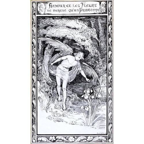 1261 - Maud Hiley (1864-1941) - Amour et les Fleurs ne durent qu'un Printemps, signed, dated '03 and inscri...