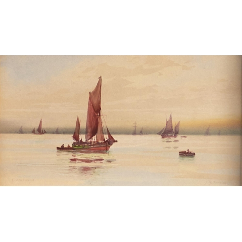 1272 - Thomas William Garmin Morris (1860 - c.1930) - Scarborough, a pair, both signed with the artists pse...