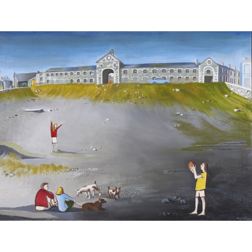 1288 - Mary Adshead (1904-1995) - Playing Ball, signed, oil on canvas, 76 x 101cm