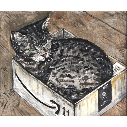 1350 - J Crichton, 20th/21st c - Portraits of Favourite Cats, four, one signed with initials, oil on canvas...
