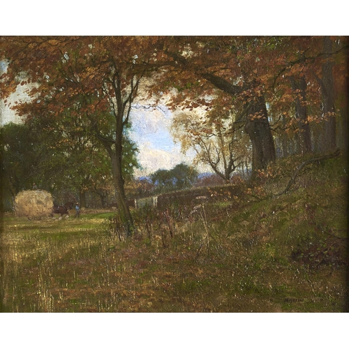 1357 - British School, 20th c - The Light Leaves Falling Fast, signed (Martin), dated 1911 and inscribed ve...