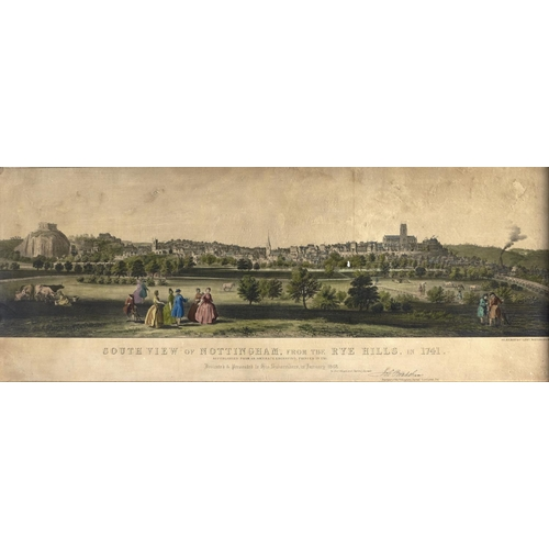 1393 - Miscellaneous pictures and prints, including many of Nottingham and Nottinghamshire interest, 19th c...