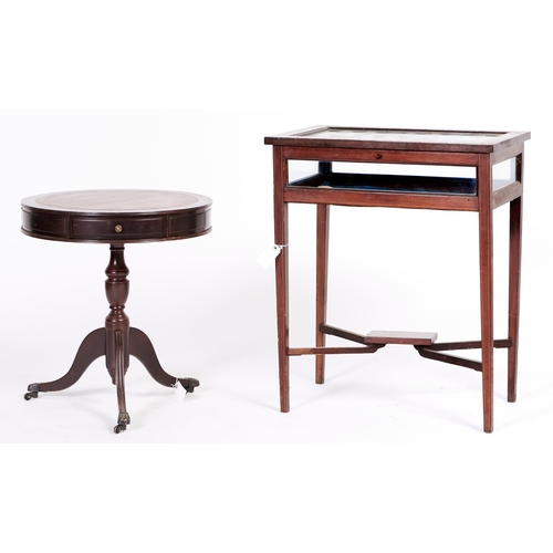1447 - An Edwardian mahogany bijouterie table, c1905, outlined throughout with satinwood crossbands, boxwoo...