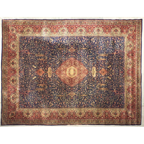 1457 - A silk style rug, 360 x 275cm