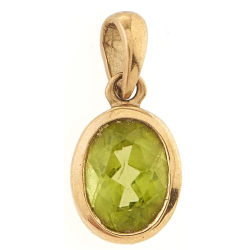 188 - A 9ct gold peridot pendant, 1g