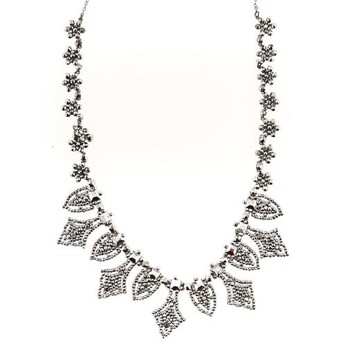 231 - A Belle Epoque cut steel fringe necklace