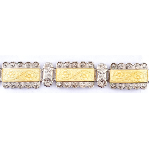 232 - A silver and enamel bracelet, 20g