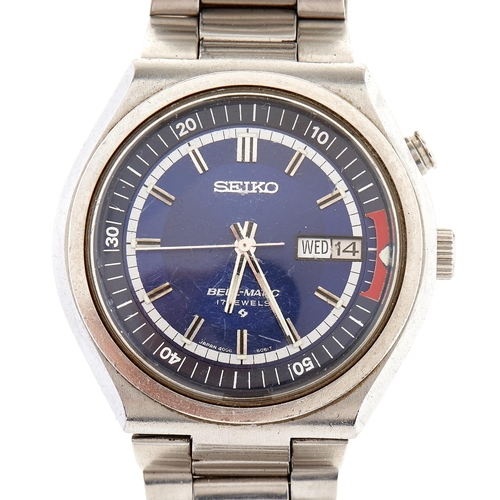 259 - A Seiko stainless steel gentleman's chronograph wristwatch, Bell-Matic,Seiko stainless steel brace...