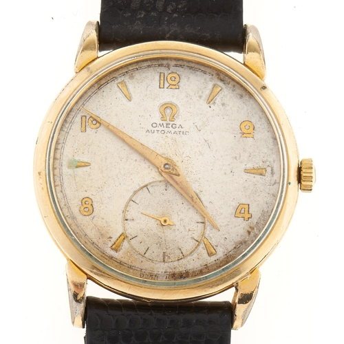 273 - An Omega gold plated mid sized self-winding gentleman's wristwatch