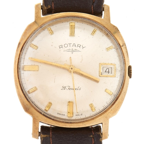 283 - A Rotary 9ct gold gentleman's wristwatch, with date