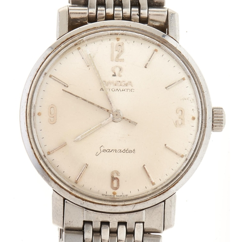 286 - An Omega stainless steel self-winding gentleman's wristwatch,Seamaster,maker's bracelet and clasp...