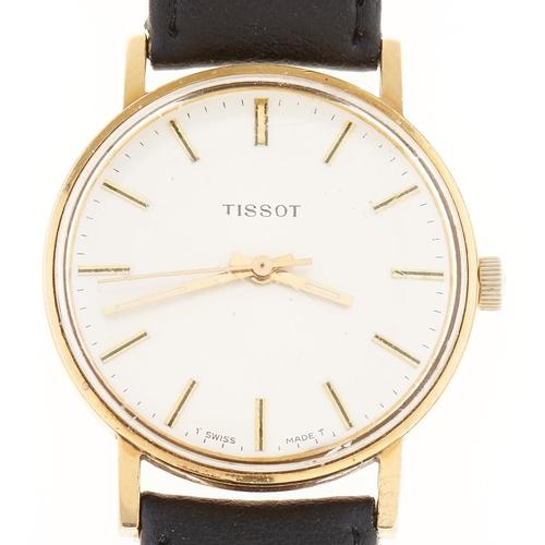 295 - A Tissot gold plated gentleman's wristwatch, maker's box