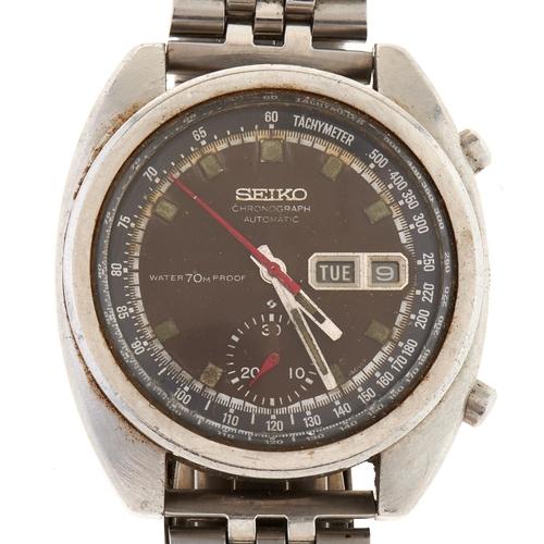 297 - A Seiko stainless steel self-winding gentleman'schronograph wristwatch, Japan 6139-6040T...