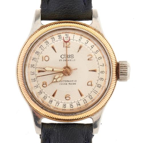 302 - An Oris stainless steel self-winding 'bubble' back lady's wristwatch,boxed