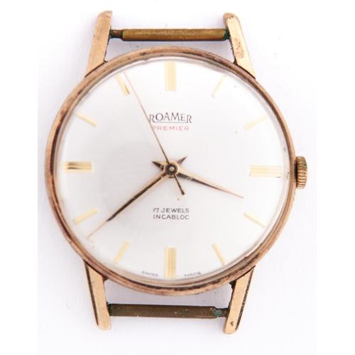 305a - A Roamer 9ct gold gentleman's wristwatch, Premier
