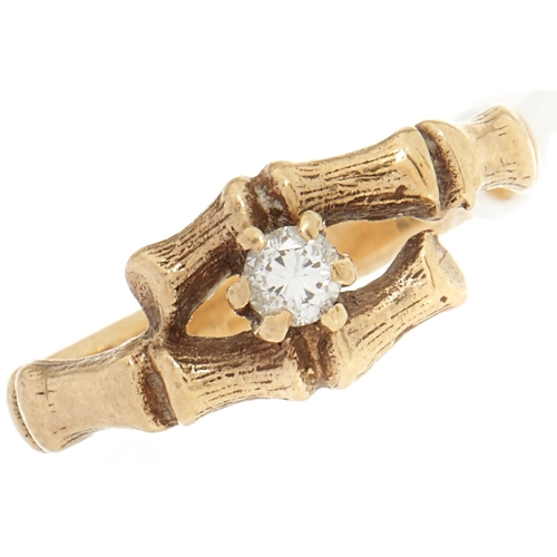 34 - A 9ct gold diamond ring, 2.2g, size K