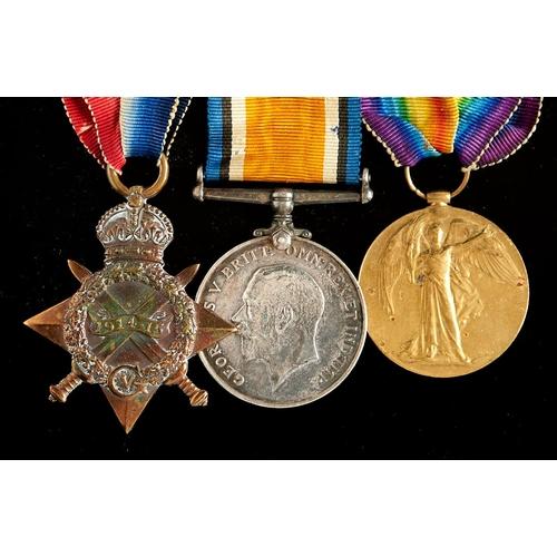 366 - World War I group of three, 1914-15 Star, British War Medal and Victory Medal 10945 PTE J Turner RAM...